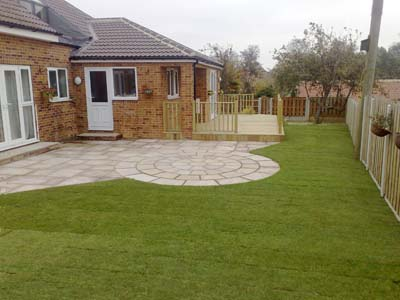 Garden makeover with Patio and Decking